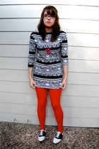 American Apparel dress - We Love Colors tights - shoes