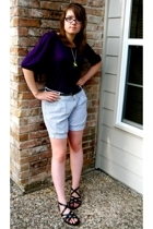 lux at urban outfitters shorts - Polo Jeans Company shirt - 579 necklace - Charl
