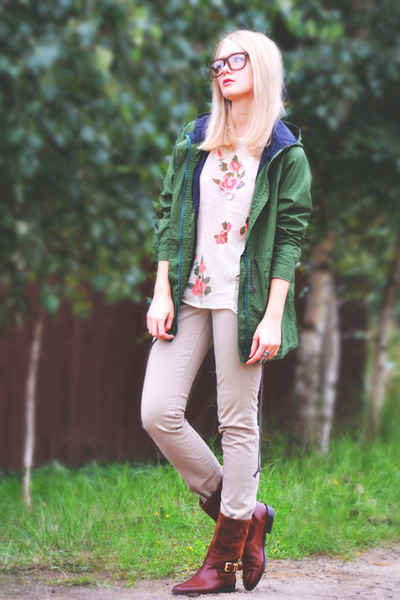 Massimo Dutti boots - Victorias Secret jeans - Sheinside jacket