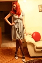 Kotton dress - unknown brand tights - Aldo shoes