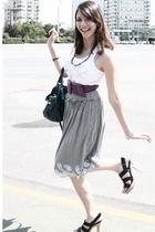 Zara top - Mango dress - H&M belt - Zara shoes
