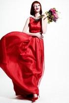 red Zac Posen dress