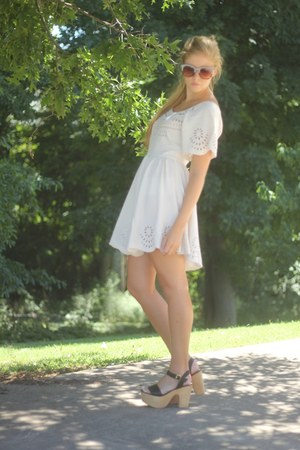 white dress dress - wedges Steve Madden wedges