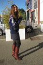 Navy-vintage-jumper-brown-topshop-boots