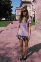 aa t-shirt - H&M skirt - Sam Greenberg vintage shoes