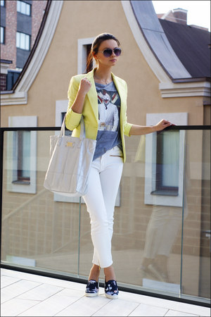 silver silver hobo Colins bag - light yellow Victorias Secret blazer