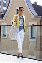 silver silver hobo Colins bag - light yellow Victorias Secret blazer