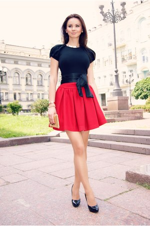 skater Zara skirt - black Sisley dress