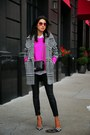 Black-trina-turk-coat-hot-pink-finders-keepers-sweater