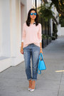 Navy-gap-jeans-light-pink-sweater-sky-blue-michael-kors-bag