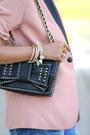 Periwinkle-minusey-jeans-peach-sandro-paris-blazer-black-rebecca-minkoff-bag