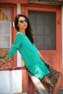 Turquoise-blue-bonlook-sunglasses-green-lovers-friends-dress