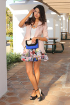 pink ted baker skirt - light pink ted baker blazer - blue BCBG bag
