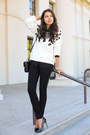 Black-james-jeans-jeans-white-sandro-sweater-black-milly-ny-bag