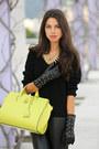 White-zara-coat-black-barbara-bui-boots-chartreuse-alexander-wang-bag