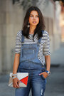 Navy-guess-jeans-red-celine-bag-cream-j-crew-top