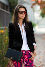 Black-banana-republic-jacket-white-equipment-blouse