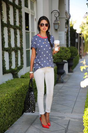 ily couture t-shirt - Rich & Skinny jeans - Joes Jeans bag - Miu Miu pumps