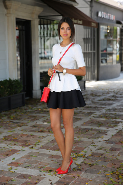 black cameo skirt - red Marc by Marc Jacobs bag - red Miu Miu heels 011a7df4acd0c