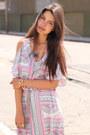 Light-pink-leyendecker-dress-brown-zara-heels-amethyst-beso-beso-necklace