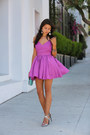 Magenta-keepsake-the-label-dress-aquamarine-dvf-bag-silver-barbara-bui-heels