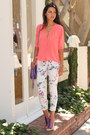 White-minusey-jeans-amethyst-rebecca-minkoff-bag-coral-sandro-blouse