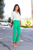 teal asos pants - black 31 Phillip Lim bag