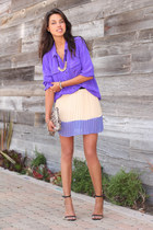 purple J Crew blouse - light purple Sheinside skirt - black Zara heels