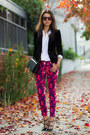 black banana republic jacket - magenta banana republic pants