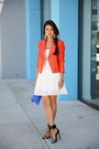 White-tailor-stylist-dress-salmon-truth-pride-jacket