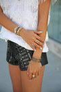 Black-one-teaspoon-shorts-red-marc-by-arc-jacobs-bag