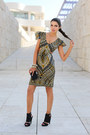 Mustard-ashanti-brazil-dress-black-zara-bag-black-report-signatre-heels