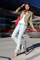 Juicy Couture jacket - Luxury Rebel shoes - Domino jeans - red leather Furla bag