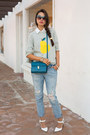 Periwinkle-free-people-jeans-heather-gray-j-crew-sweater-teal-zara-bag