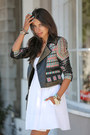 White-club-monaco-dress-black-bcbg-jacket-black-proenza-schouler-bag