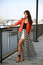 Carrot-orange-truth-pride-jacket-black-finders-keepers-skirt