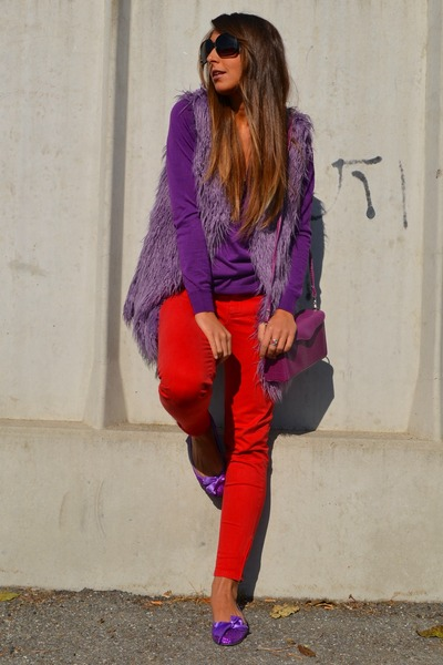 amethyst romwe vest - amethyst basic sweater Zara sweater