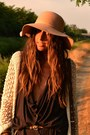 Crimson-cardigan-dress-h-m-dress-camel-floppy-hat-bershka-hat-crimson-satche