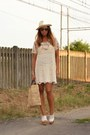 Cream-sheinsidecom-dress-brown-no-brand-bag-white-h-m-wedges