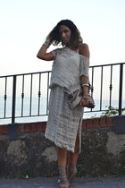 light brown MIABAG bag - eggshell made in Positano dress