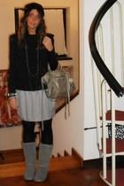 Zara shirt - Zara skirt - filodoro socks - Ugg boots - H&M hat - banciaga purse