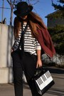 Brick-red-h-m-blazer-black-asos-boots-ivory-romwe-bag-black-h-m-pants