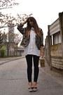 Mustard-vintage-blazer-ivory-h-m-shirt-mustard-asos-bag-black-zara-pants