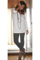 Zara t-shirt - benetton pants - H&M bracelet - H&M accessories - Zara shoes