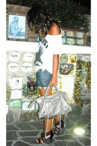 Zara t-shirt - REPLAY shorts - mercato shoes - balenciaga accessories