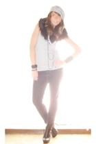 H&M scarf - Zara t-shirt - Zara pants - silvian heach boots - H&M necklace