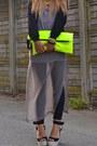 Yellow-wwwarmadiodimatildeit-bag-silver-zara-dress-black-romwe-jacket