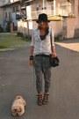 Black-hat-h-m-hat-periwinkle-basic-shirt-zara-shirt