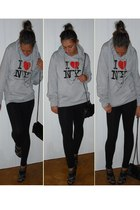 from NY sweater - Zara leggings - Zara accessories - Zara shoes