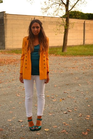 blazer romwe blazer - old top H&amp;M top - pants Zara pants